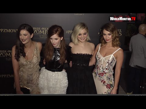 Lily James, Lena Headey, Matt Smith, Douglas Booth 'Pride and Prejudice and Zombies' LA premiere
