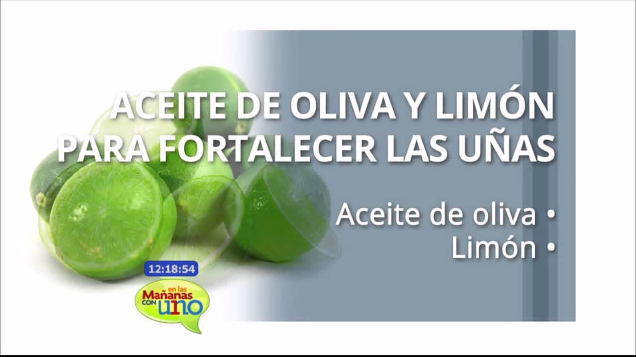 Aceite de oliva y limón para fortalecer las uñas - YouTube