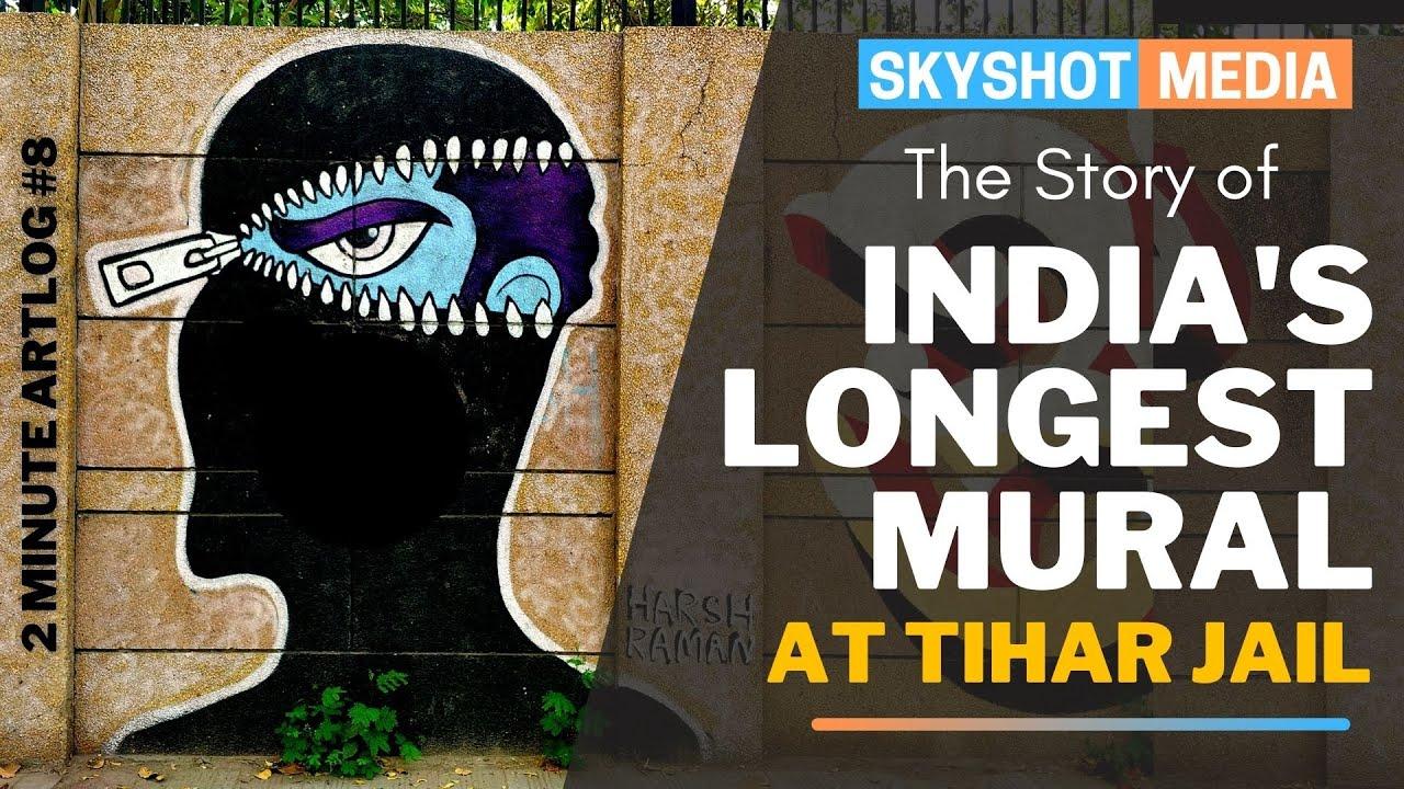 India's Longest Mural @ Tihar Jail | 2 Minute Artlog #8