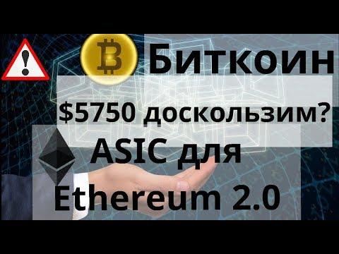 Биткоин. $5750 доскользим ASIC для  Ethereum 2.0. Биткоин-ETF  Мы приблизились. Курс BTC