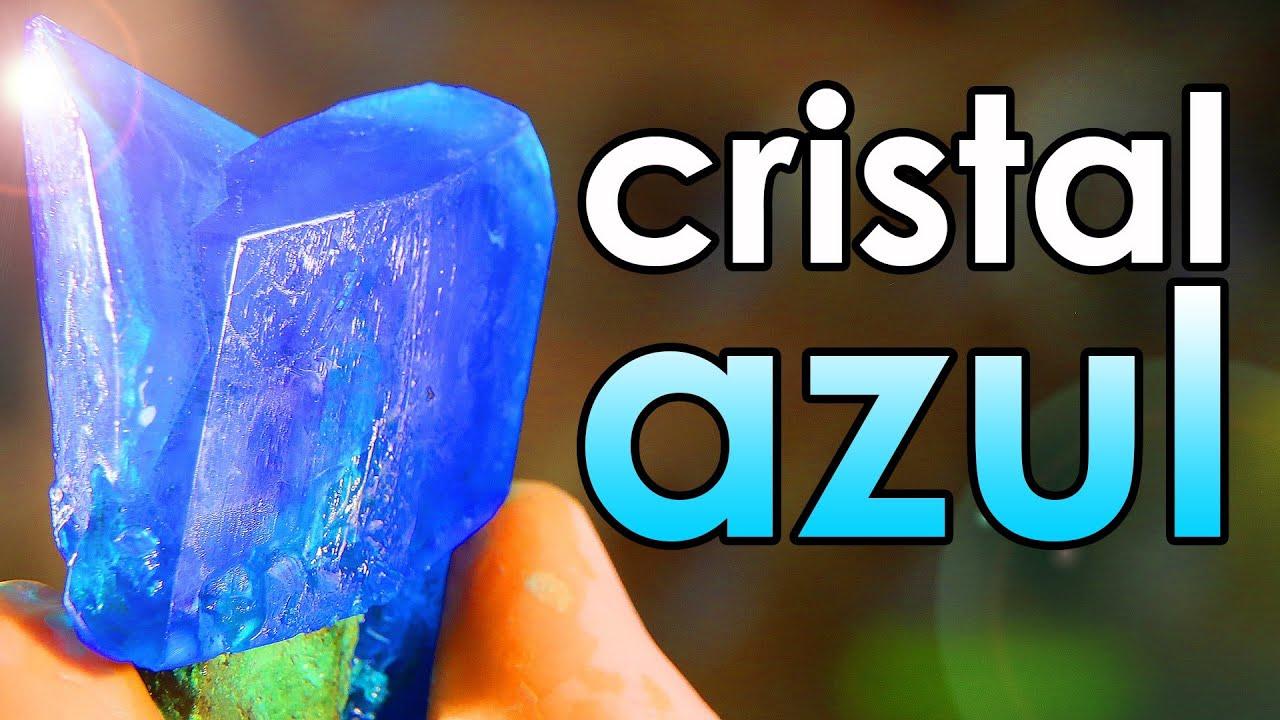 Como fazer um CRISTAL AZUL em casa passo a passo