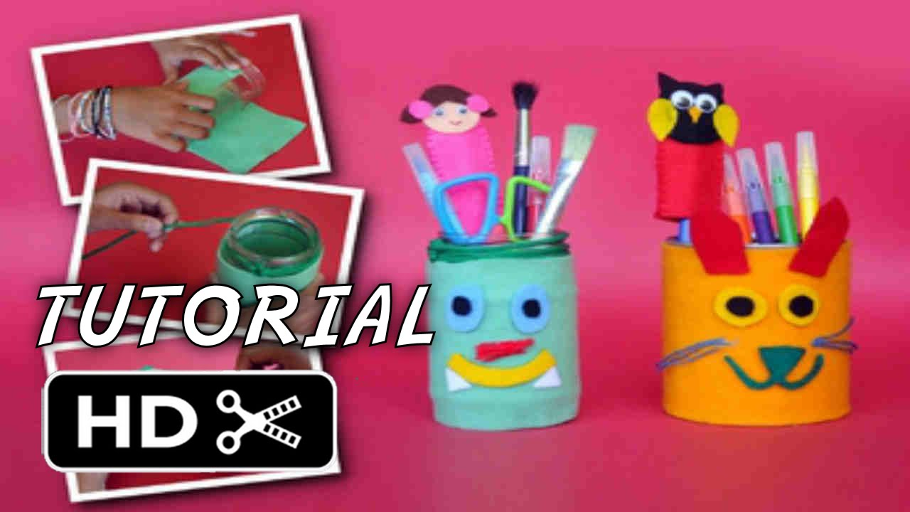 Cara Membuat Tempat Pensil dari Botol Kaleng Bekas - YouTube e64619209b