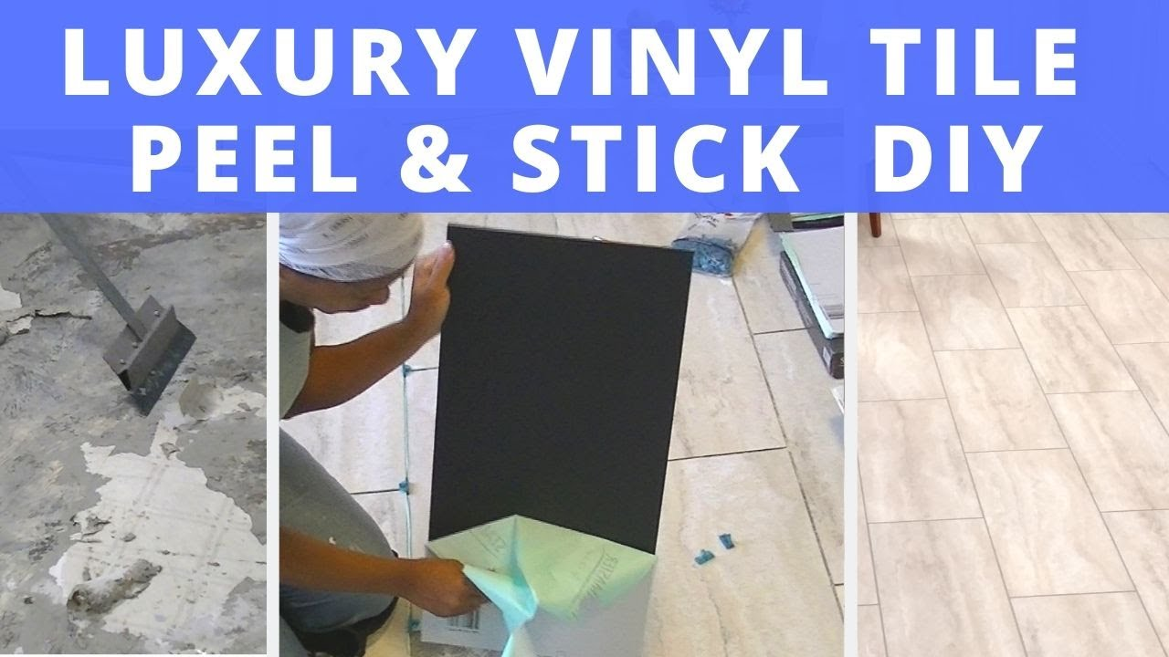 luxury vinyl tile peel and stick diy