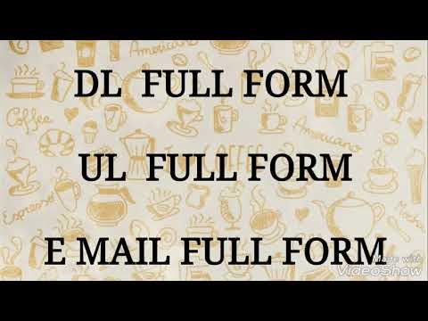 GK FULL FORM DL, UL, EMAIL,Genaral Knowlage || in Hindi - YouTube