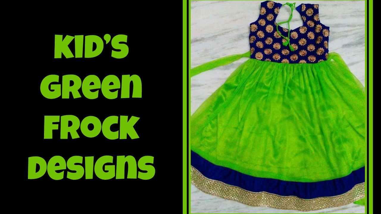 Kids Green Color Frock Dress Designs