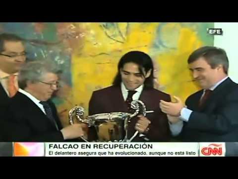 Radamel Falcao se recupera mejor de lo esperado