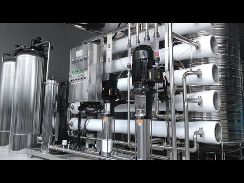 water treatment system 4000T two stages RO purifier stainless steel Système de purification l'eau