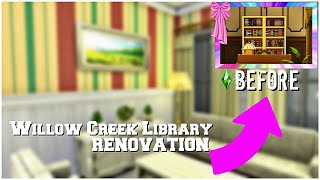Willow Creek Library || Renovation || Tour || The Sims 4 || NO CC