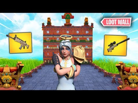 LA PARED DEL LOOT LEGENDARIO !! *NUEVO* MINIJUEGO FORTNITE !