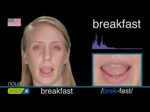 How To Pronounce BREAKFAST like an American - English Pronunciation