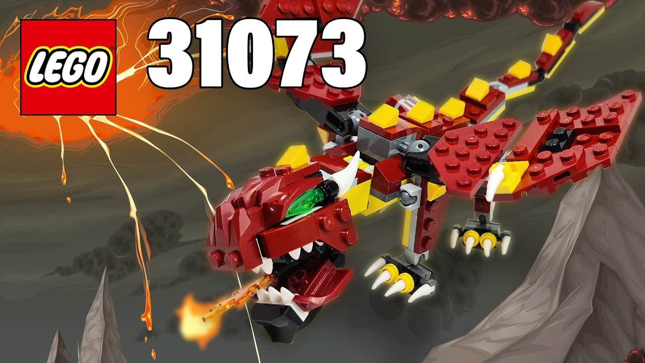 Fire-breathing Dragon from Mythical Creatures [31073] LEGO® Creator Building Instructions