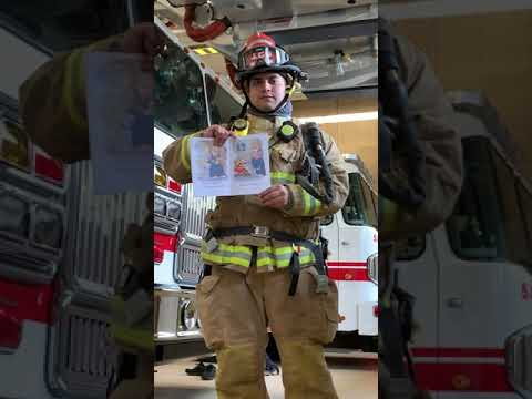 Sanger Fire's Jacob Cervantes Reads Going To The Firehouse.