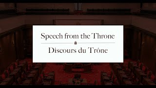 Speech from the Throne 2019