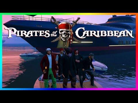 GTA ONLINE PIRATES OF THE CARIBBEAN SPECIAL - CAPTAIN JACK SPARROW, BLACKBEARD & MORE GTA 5 PIRATES!