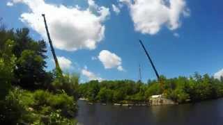 Piscataquog Trail (manchester, Nh) Pedestrian Bridge Construction
