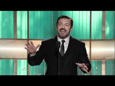 Ricky Gervais - controversial monologue - Golden Globe Awards