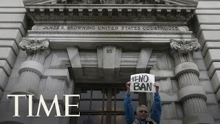 Court Of Appeals Hears Arguments Over Donald Trump's Travel Ban In Seattle   TIME