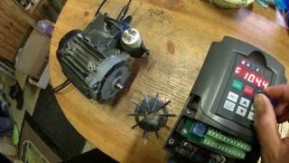 moteur mono vs variateur,  300hz !