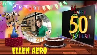 INVITATION BIRTHDAY 50th PARTY ZIN ELLEN AERO