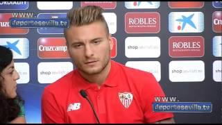 """Immobile: """"Me gustaría quedarme varios años en el Sevilla"""""""