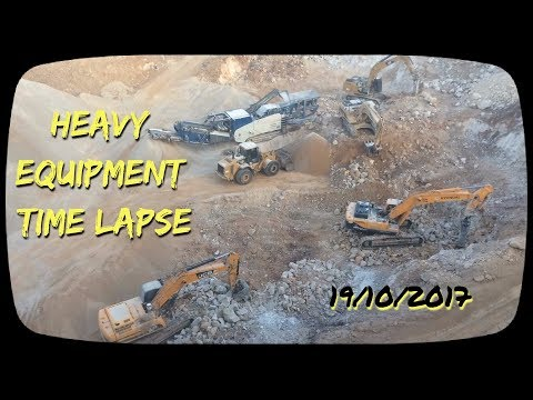 Heavy Equipment Time Lapse , Jerusalem 171019