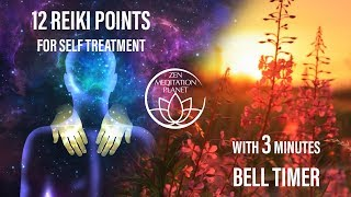 Guided Reiki Timer 12 Self Healing Therapy Hand Placements 3 Minutes Bell Alarm