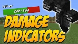 Обзор модов Minecraft #163 Damage Indicators Mod 1.11/1.10.2/1.9.4 by ToroCraft - Health online=)