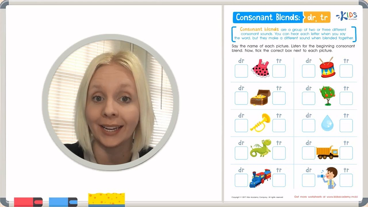 medium resolution of Learn Consonant Blends - DR