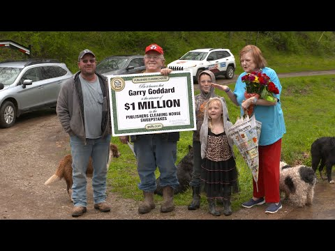 PCH Sweepstakes Winner: Garry Goddard From Buffalo, WV Wins $1,000,000.00