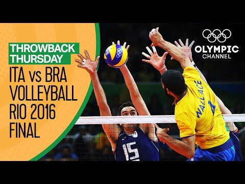 Italy vs Brazil – Men's Volleyball Gold Medal Match at Rio 2016 | Throwback Thursday