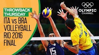 Italy vs Brazil – Men\'s Volleyball Gold Medal Match at Rio 2016 | Throwback Thursday