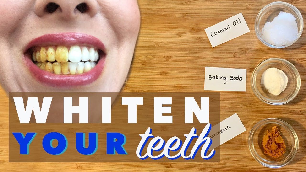 Teeth Whitening With Turmeric Coconut Oil Baking Soda Natural