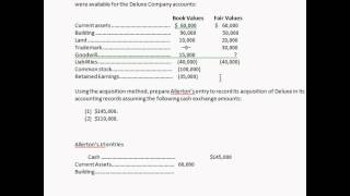 Advanced Accounting Chapter 2 (Recording the acquisition of a company)