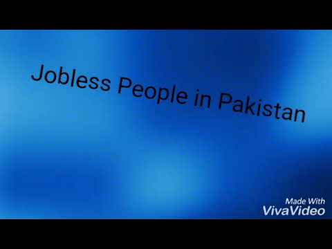 Jobless people in Pakistan and emotional work