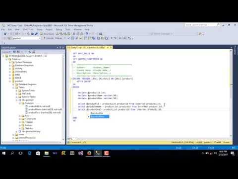 How To Create Insert Trigger Using SQL Server
