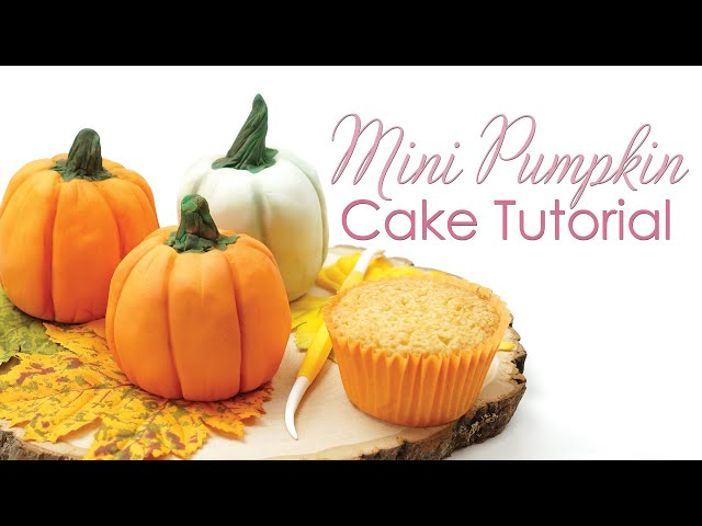 Mini Pumpkin Cakes Tutorial Using Cupcakes
