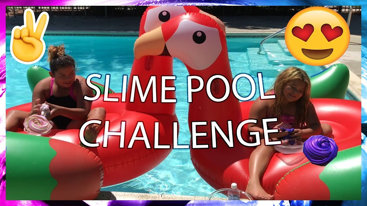 Slime Mary Izzy: SWIMMING POOL SLIME CHALLENGE