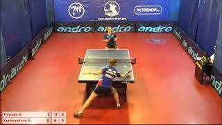 Настольный теннис матч 20112018 2 Толпыго Кристина Кудряшова Анна