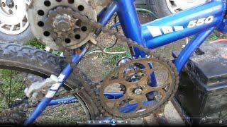 Electric Bike на моторе от вентилятора.