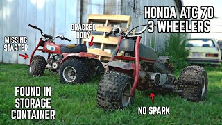 I Bought TWO Cheap ABANDONED Honda 3 Wheelers to Surprise Ike… Can We Make Them Run & Ride?