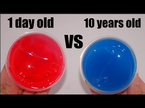 10 Years Old Slime V.s. 1 Day Old Slime!! *Did It Change?!*
