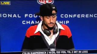 Colin Kaepernick post game interview 2014 NFC championship