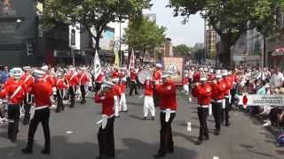 Shankill Star Performing to the Crowd - 12th of July Parade
