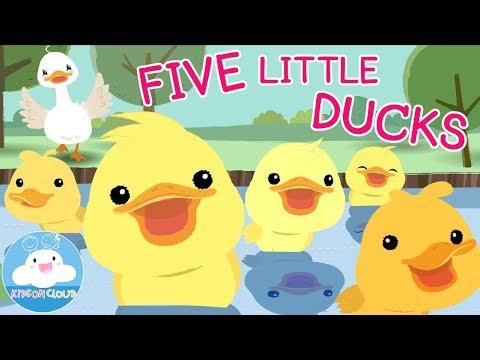 Five Little Ducks | Nursery Rhyme | เพลงเป็ดน้อย 5 ตัว | เพลงเด็กภาษาอังกฤษ by KidsOnCloud