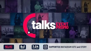 Talks Event Promo ★ After Effects Template ★ AE Templates