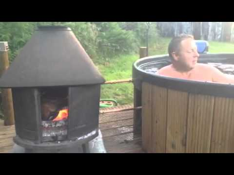 Diy log fired hot tub