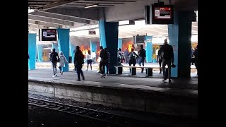 Cape Town Train station on fire again.