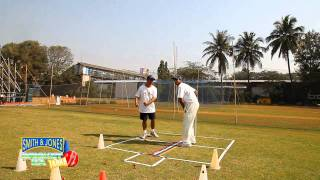 Cricket Practice: Batting Drills foot moves