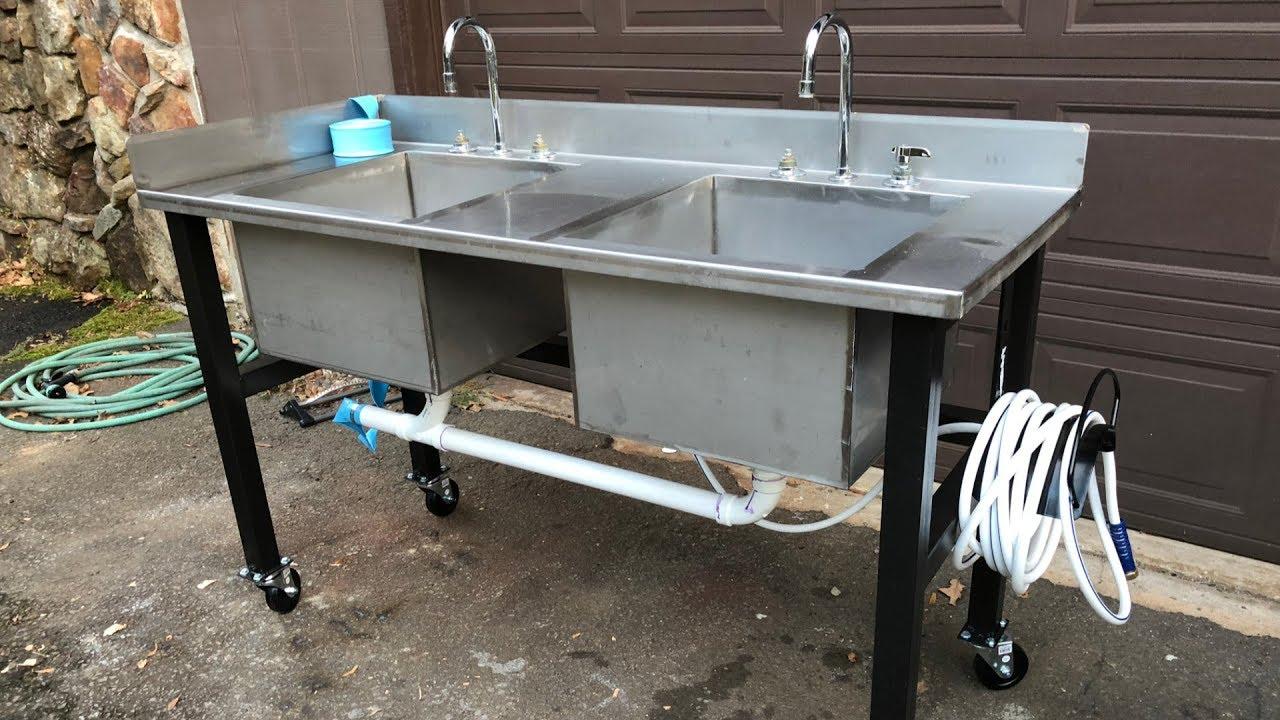 outdoor sink build