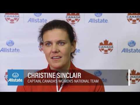 Allstate Soccer Clinic Recap featuring Christine Sinclair